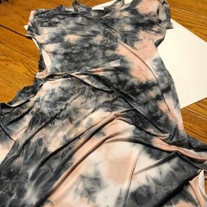 Aime,  tie dye print gray/pink dress, medium